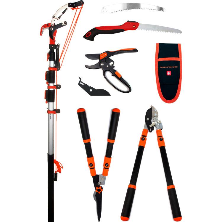 Packs d'outils sécateur + coupe-branche + taille-haies + échenilloir + scie