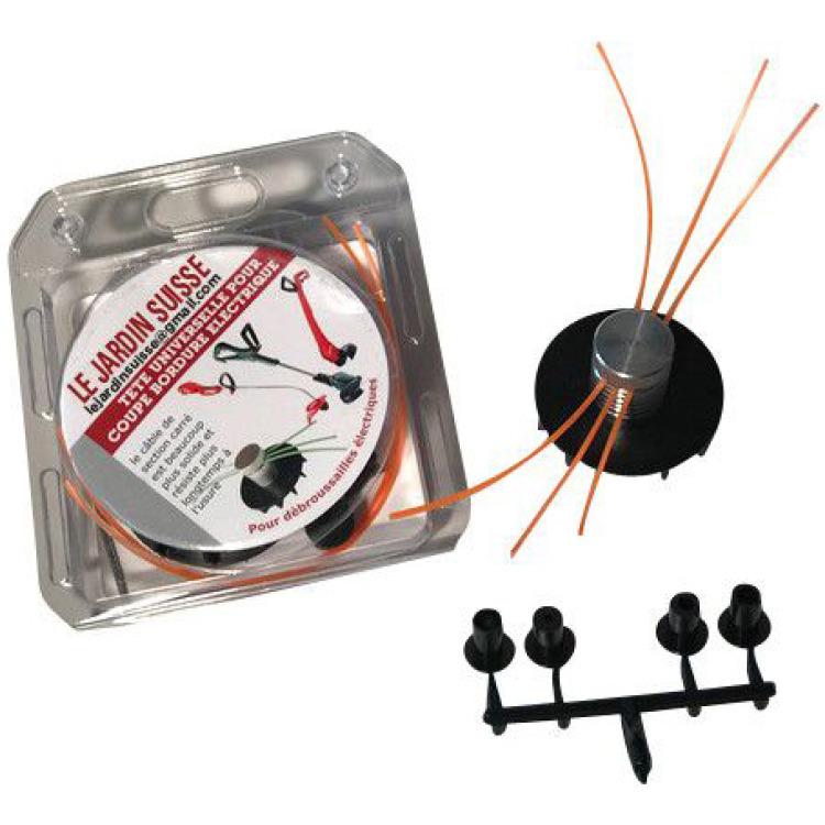 Tête pour coupe-bordures électrique + fil