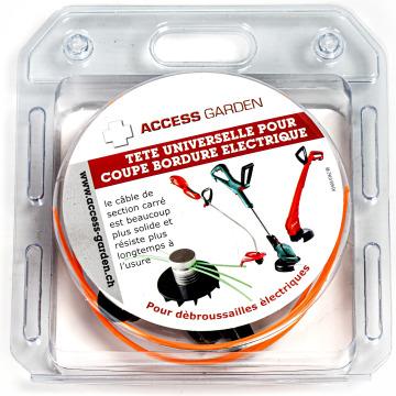 Tête pour coupebordures électrique